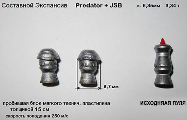 Экспансивные тяжелые охотничьи пули Predator+JSB