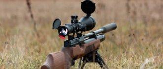 Пневматическая винтовка с оптическим прицелом
