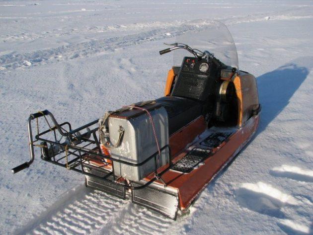 Снегоход с увеличенным багажником