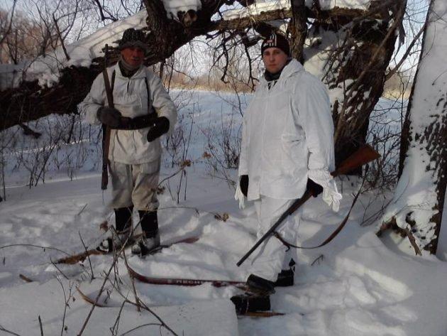 Экипировка для зимней охоты на зайца