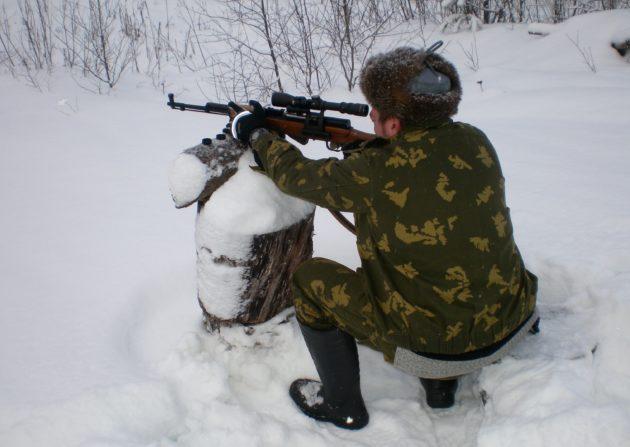 Охота на волка из засидки