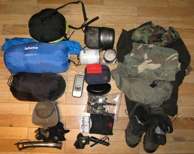 Содержимое охотничьего рюкзака