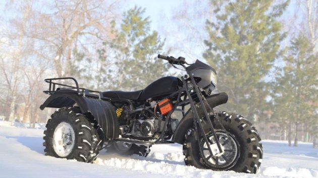 Трехколесный мотоцикл для охоты Васюган