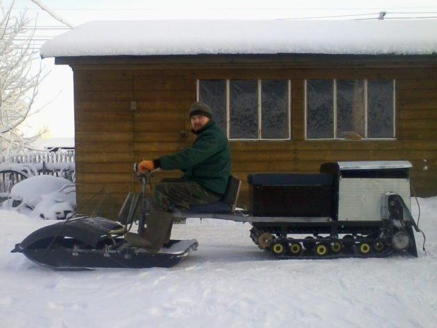 Выбор мотобуксировщика для охоты в лесу