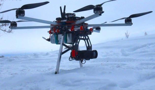 Квадрокоптер с тепловизором