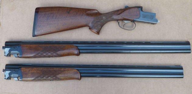 Вертикальное двуствольное ружье