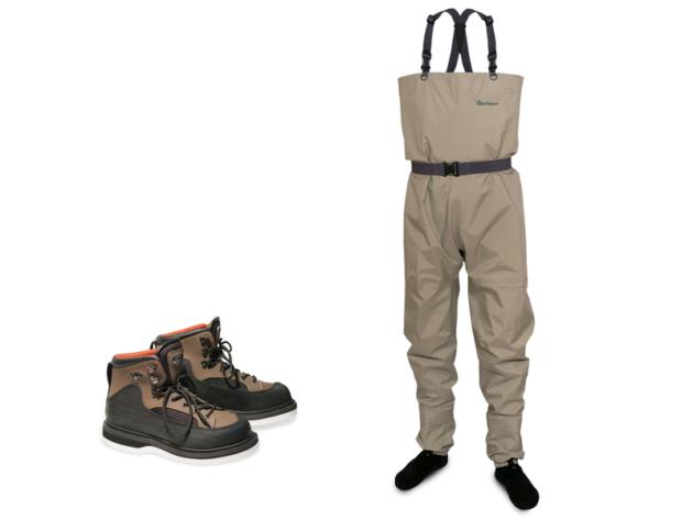 Модель с носками и забродные ботинки