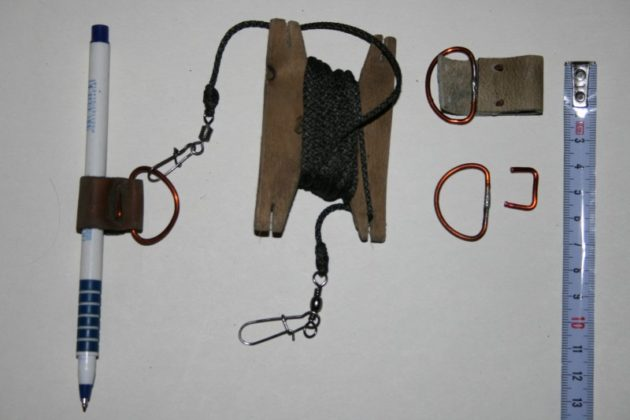 Ногавка с шнуром и скобками