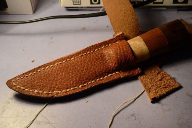 Изготовление ножен из кожи