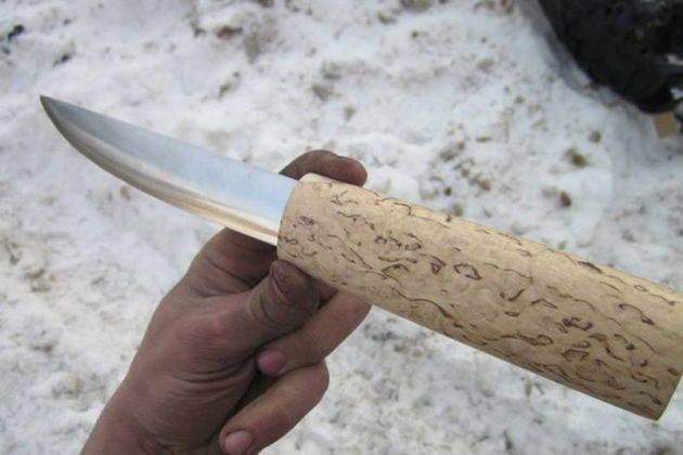 Рукоятка якутского ножа
