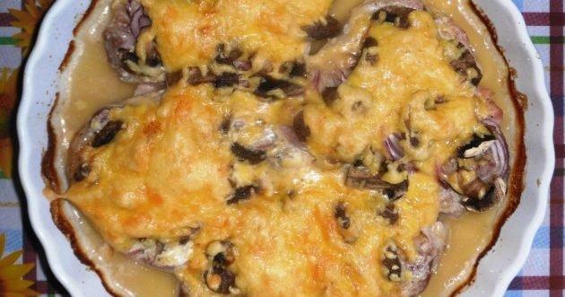 Запекание с грибами и сыром
