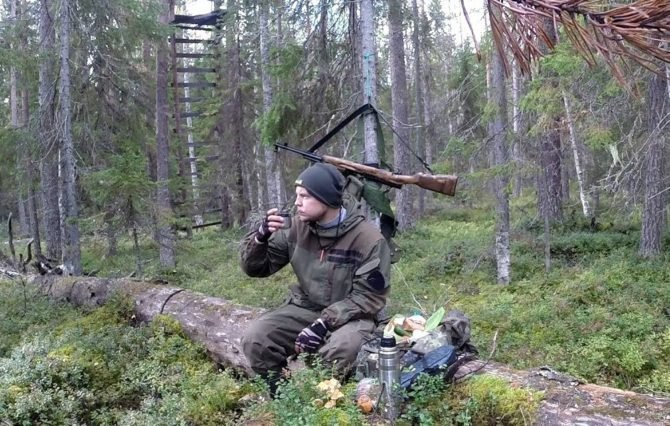 Охотник с карабином ВПО-208