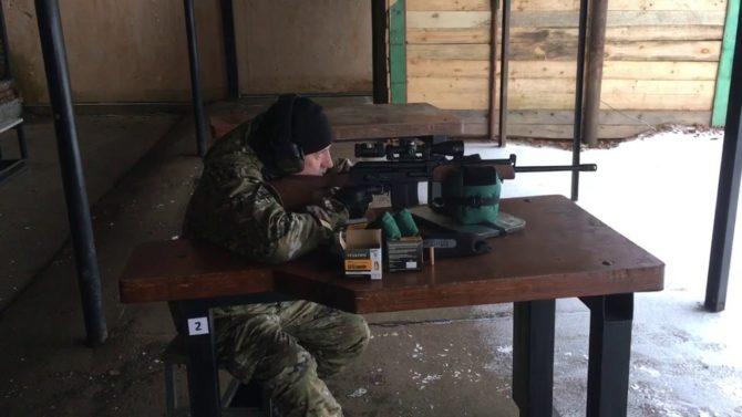 Пристрелка карабина Вепрь-1В