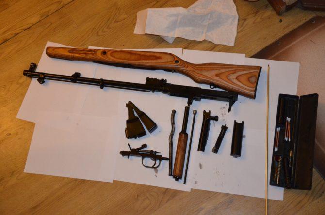 Ружье ВПО-208 в разобранном виде