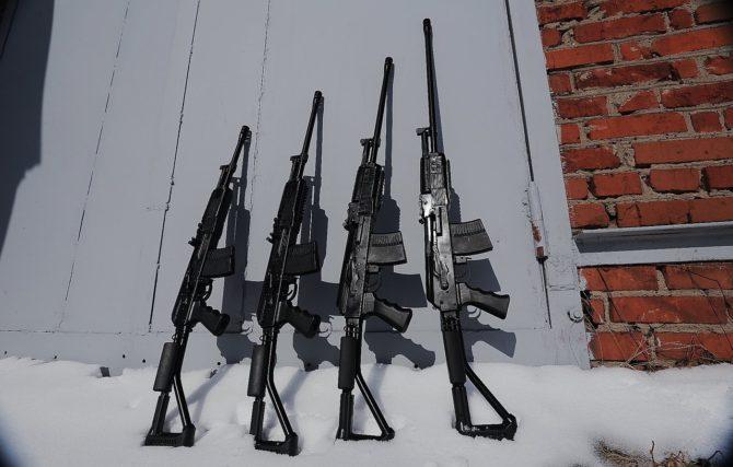 Ружья ВПО-222 с различной длиной ствола
