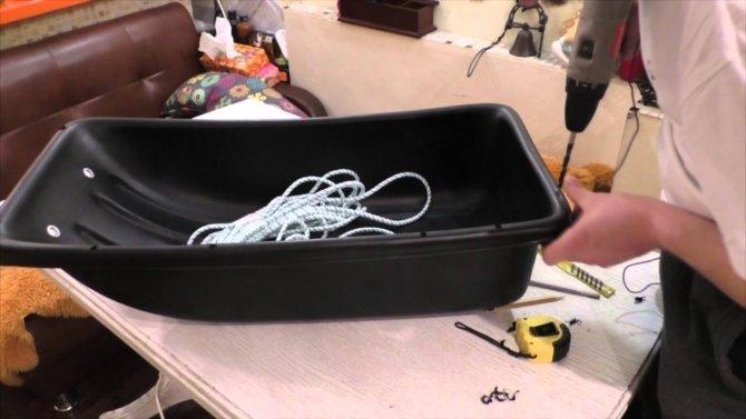 Доработка пластикового корыта для рыбалки