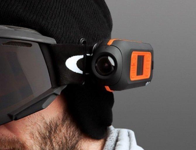 Экшн камера с креплением на голову
