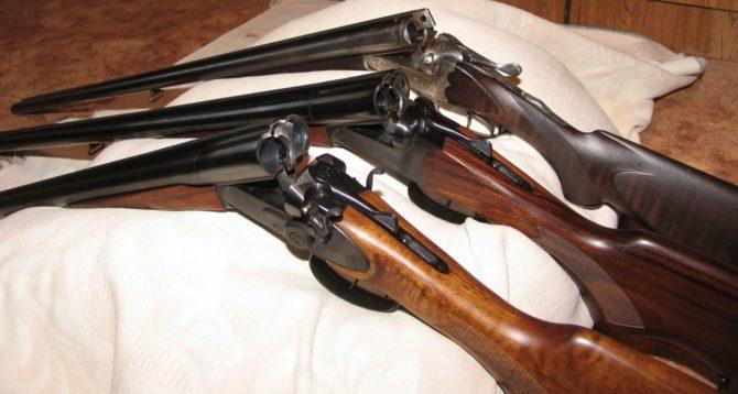 Гладкоствольные ружья с горизонтальным расположением стволов