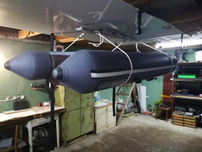 Хранение надувной лодки в гараже