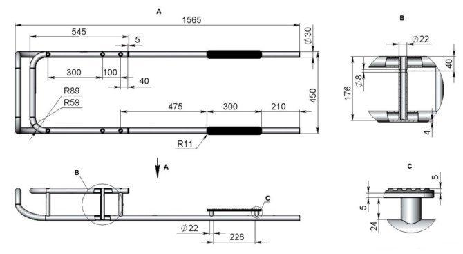 Изготовление финских саней из алюминиевых труб