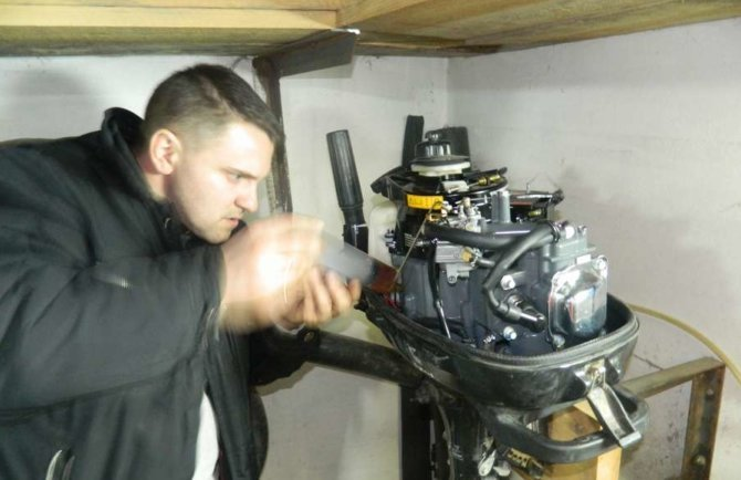 Консервация на зиму двигателя для лодки из ПВХ