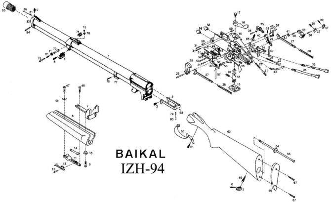 Конструкция ИЖ-94 Байкал