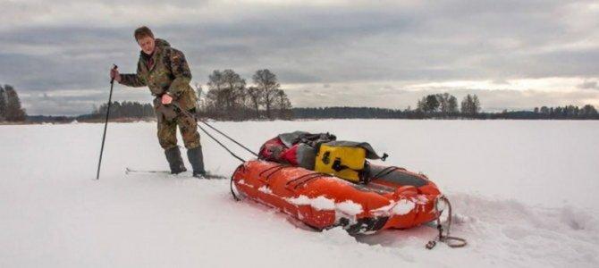 Надувные сани для зимней рыбалки