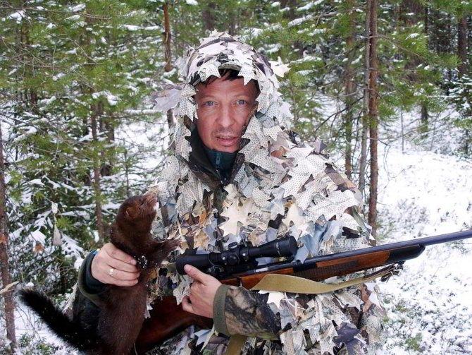 Охотник с винтовкой