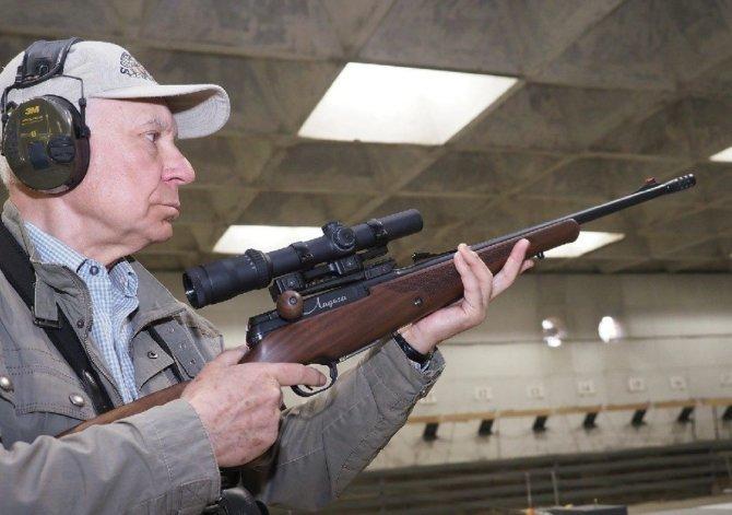 Прицельная дальность ружья при использовании пули - 150 метров