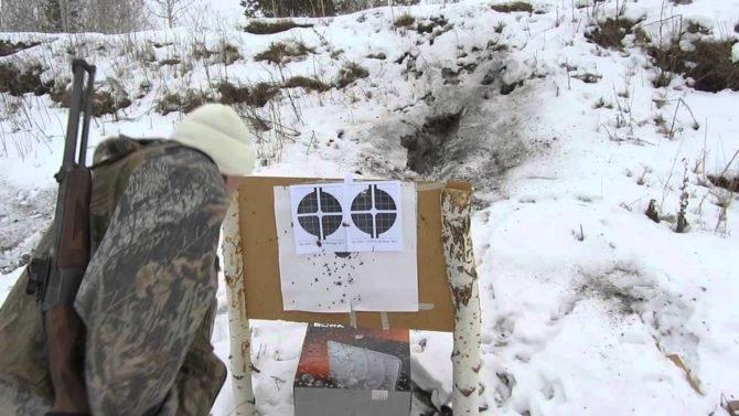 Пристрелка карабина ИЖ-94