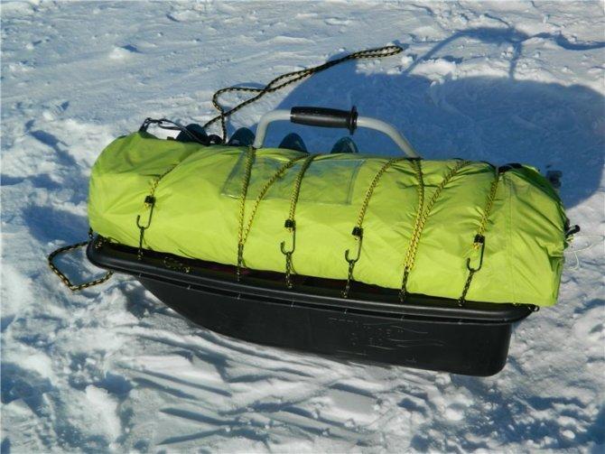 Рыболовные сани для перевозки груза