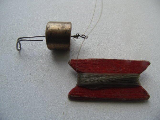 Самодельный отцеп для зимней рыбалки