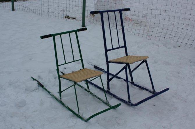 Сиденья из деревянных планок для финских саней