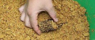 Снаряжение фидера салапинской кашей