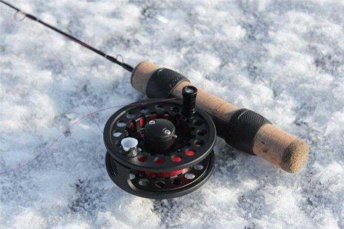 Удочка с катушкой для зимней рыбалки