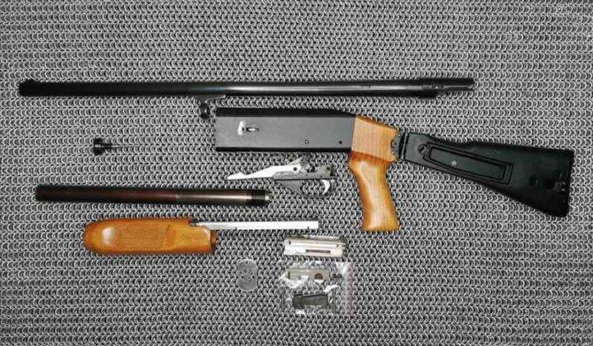 Устройство помпового ружья ИЖ-81