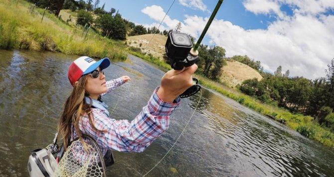 Видеокамера для рыбалки с креплением на удилище