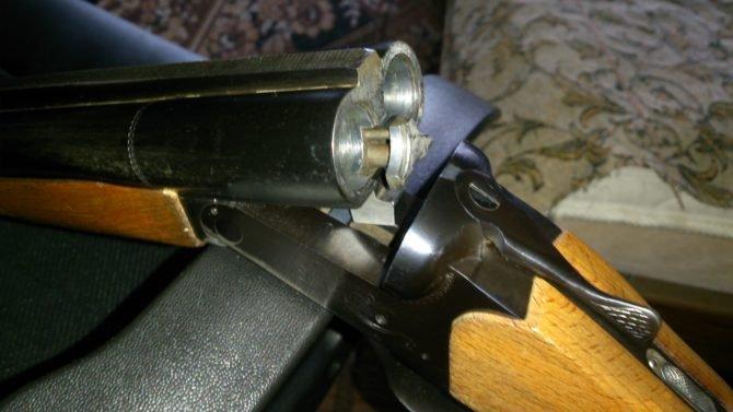 Внутренняя поверхность ствола покрыта хромом