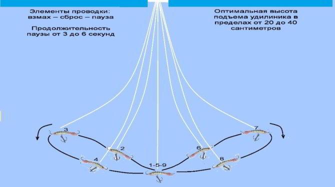 Схема проводки с балансиром на судака