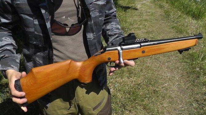Доработанное ружье МЦ-20-01