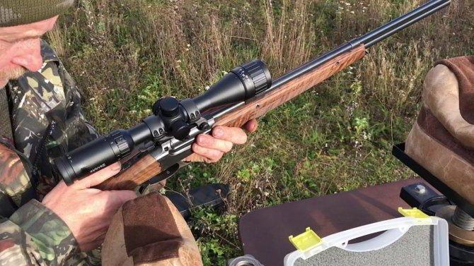 Охотник с карабином ИЖ-56