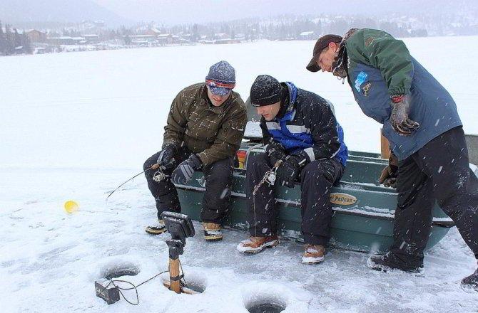Зимняя ловля с камерой