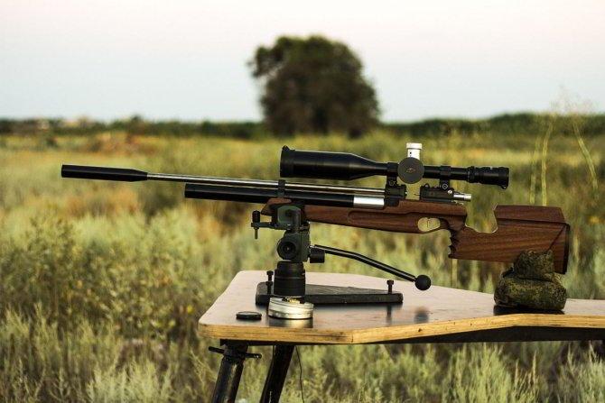 Карабин на пристрелке