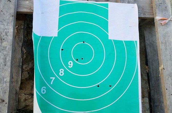 Результат пристрелки