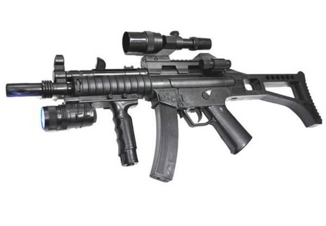 Пневматическое оружие с лазерным прицелом